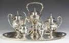 Gorham Sterling Silver 6-Piece Tea Set - Edgewater Pattern