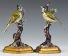 A Rare Pair of Kangxi Chinese Painted Porcelain Export Birds