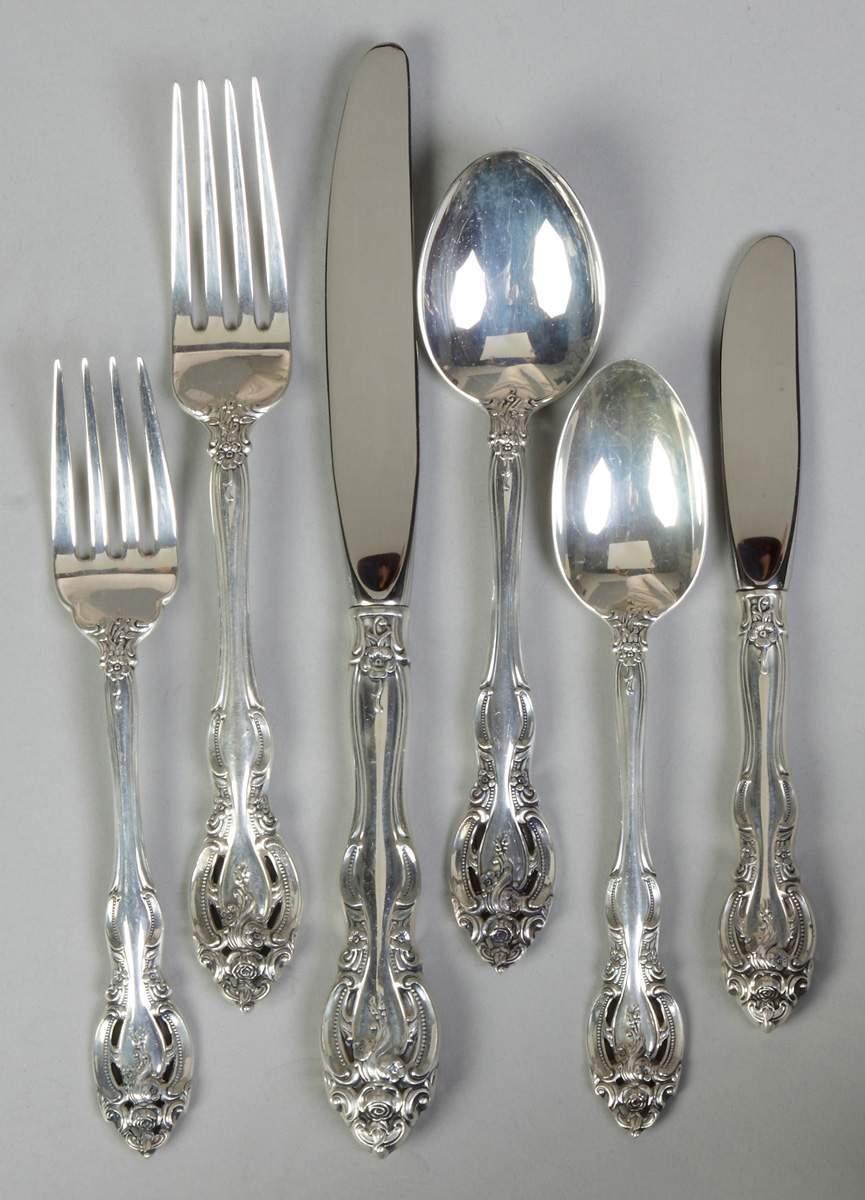 Gorham Sterling Silver Flatware Lascala Pattern