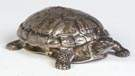 Tiffany & Co., NY & Italy, Sterling Silver Covered Turtle Box