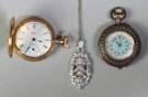 Two Ladies Pocket Watches & Necklace