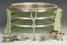 Gebruder Gutgesell, Hanau, Three Tiered German Silver Seder Plate