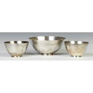 Three Tiffany & Co. Makers Sterling Silver Bowls