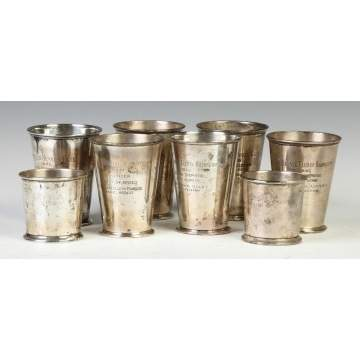 Eight Sterling Silver Kennel Club Best of Breed Cups