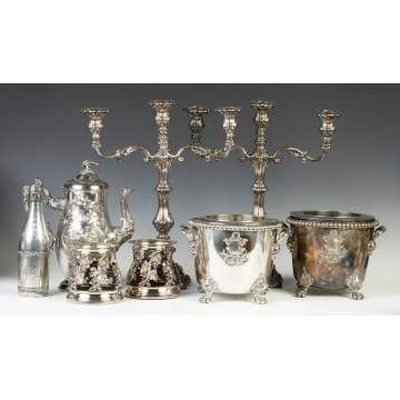 Group of Silver Plate incl. Sheffield