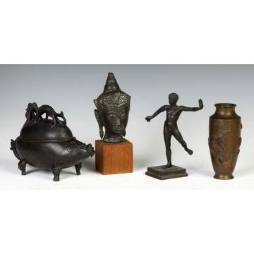 Group of Various Bronze Asian & European Objects
