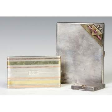 Two Cigarette Cases & Compact