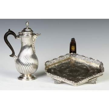 English Sterling Silver Teapot &  Tray