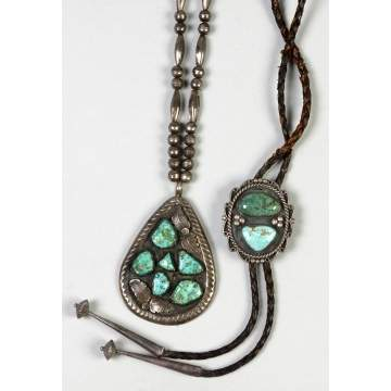 Sterling & Turquoise Necklace & Bolo