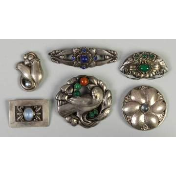 Georg Jensen Sterling Silver Brooches