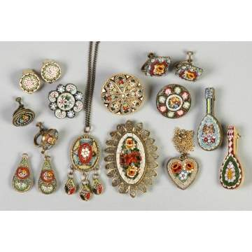 Group of Italian Mosaic Jewelry