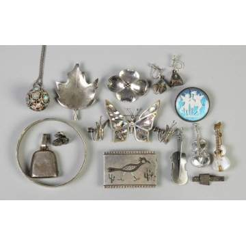 Group of Misc. Silver Jewelry