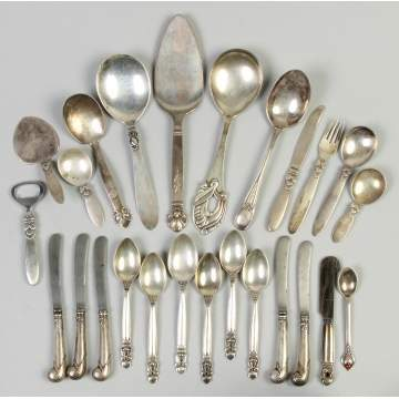 Group of Danish Sterling Silver Flatware