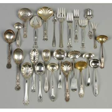 Misc. Sterling Silver Ladles, Forks & Serving Pieces