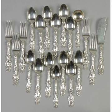 Whiting Sterling Silver Flatware - Lily Pattern