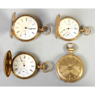Four 18K Gold Pocket Watches