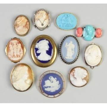 Group of Cameo Pins