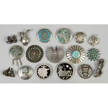 Group of Silver & Turquoise Southwest Jewelry