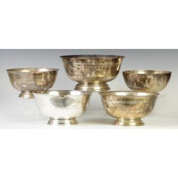 Group of 5 Sterling Silver Best of Breed Bowls