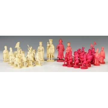 Carved Ivory Chess Set