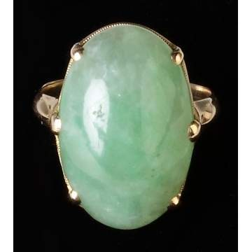 Vintage 14K Gold & Jadeite Ring