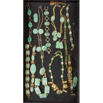 Group Jadeite & Silver Necklaces & Bracelets