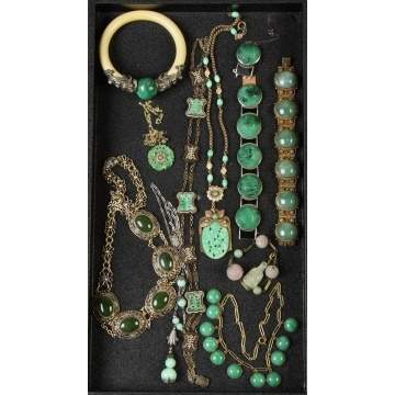 Group Jadeite Necklaces & Bracelets, etc.