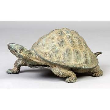 Bronze Patinaed Turtle