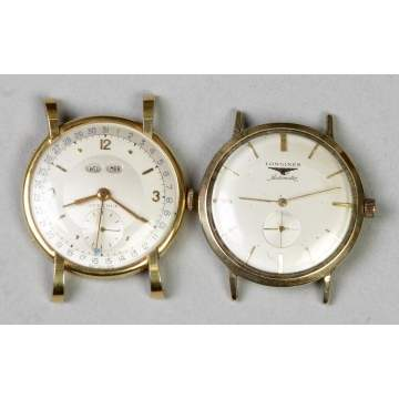 Two Gold Wrist Watches