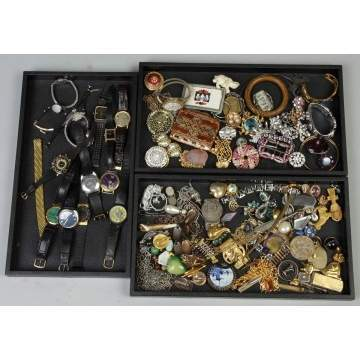 Vintage Costume Jewelry incl. Watches