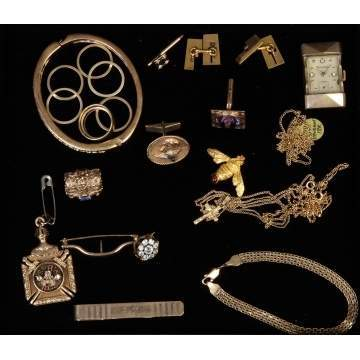 Group of Various Gold Jewelry
