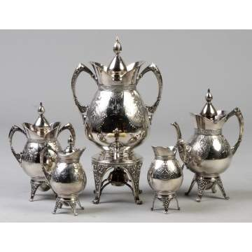 Victorian Asthetic Style Silver Plate 5-Pc. Tea Set
