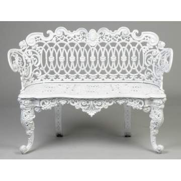 Victorian Style Cast Iron Bench & Arm Chair