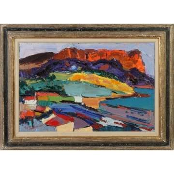 "Pierre Ambrogiani (1907-1985) ""Cap Canaille a Cassis"""