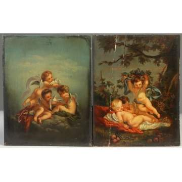 Two 19th cent. Ptgs. of Cherubs