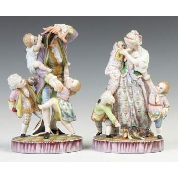 Hand Painted Porcelain Figural Groups