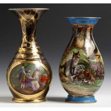 French Porcelain Vases