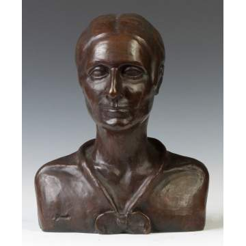 Roman Bronze Works, NY, Bronze Bust