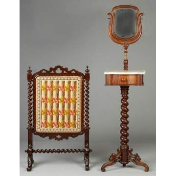 Fire Screen & Shaving Stand