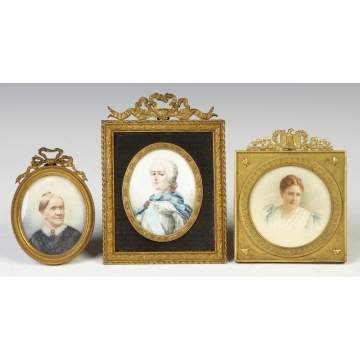 Three Miniatures on Ivory