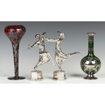 Silver Overlay & Silver Dancing Girls