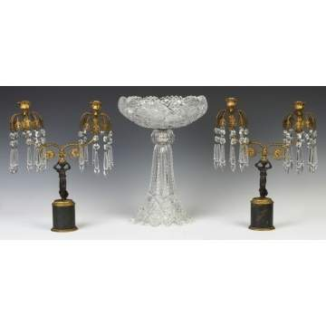 Candelabras & Cut Glass Compote
