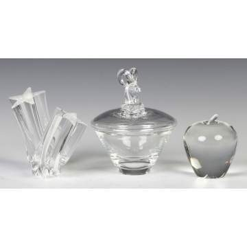 Three Pieces Steuben Crystal