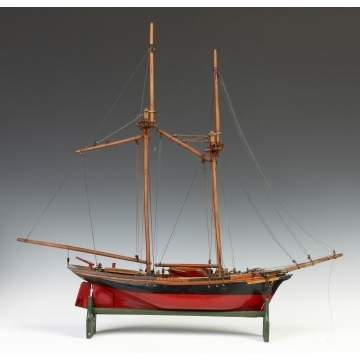 Carved & Painted Ship Model