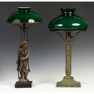 Victorian Gas Lamp w/Middle Eastern Figure