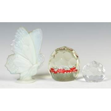 Sabino Butterfly & Cut Glass Paperweights
