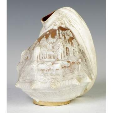 Carved Shell Lamp Shade
