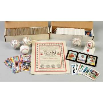Group of Baseball Cards & Autographed Baseballs