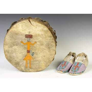 Native American Drum & Moccasins