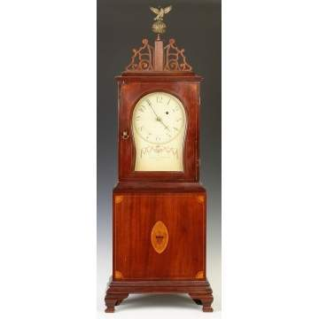Massachusetts Inlaid Shelf Clock